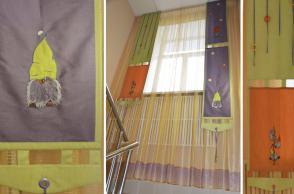 Детский сад №299, Библиотечная, 60. Лестничный марш. Машинная вышивка.